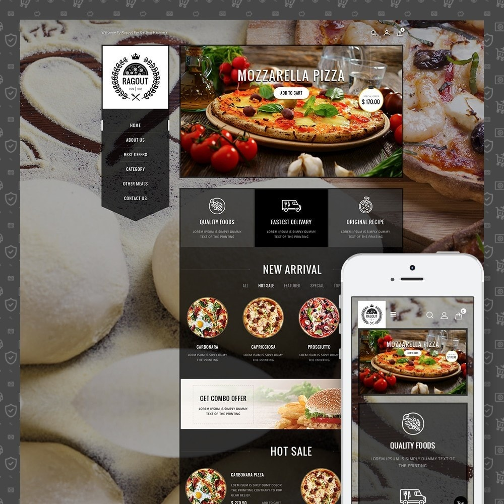 theme - Lebensmittel & Restaurants - Ragout Pizza Store - 1