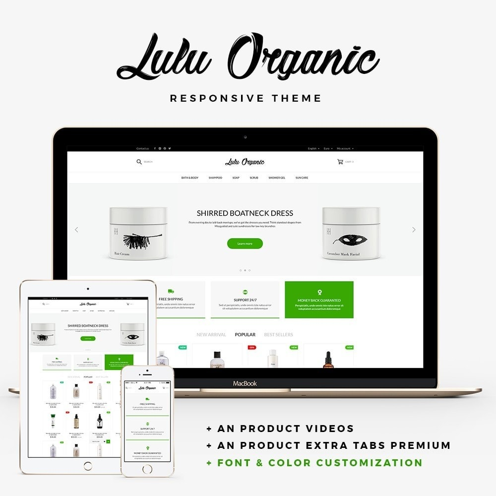 theme - Health & Beauty - Lulu Organic - Cosmetics Store - 1