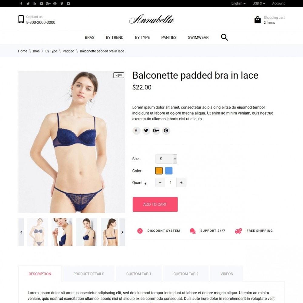 theme - Lingerie & Adulti - Annabella Lingerie Shop - 6