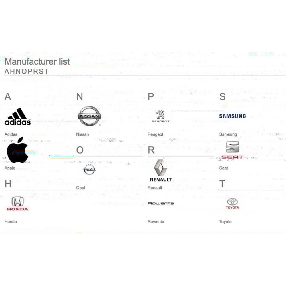 module - Бренды и производители - Brands glossary ABC / alphabetical manufacturer list - 3