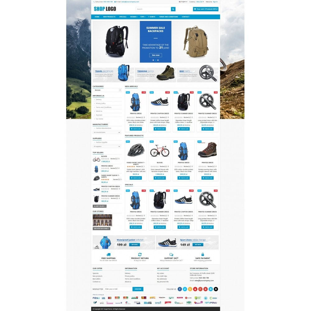 theme - Desporto, Actividades & Viagens - P16AT03 Bikes, sport and travel store - 2