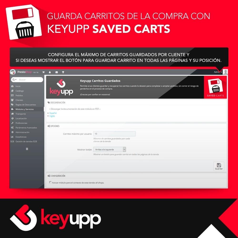 module - Inscripción y Proceso del pedido - Guarda tu carrito de la compra - 2