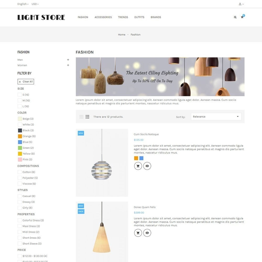 theme - Casa & Jardins - Light Store - 4