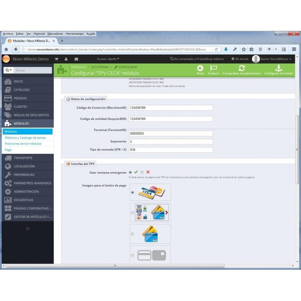 module - Pago con Tarjeta o Carteras digitales - CECA TPV PS17+ Pago seguro con tarjeta de crédito SHA2 - 7
