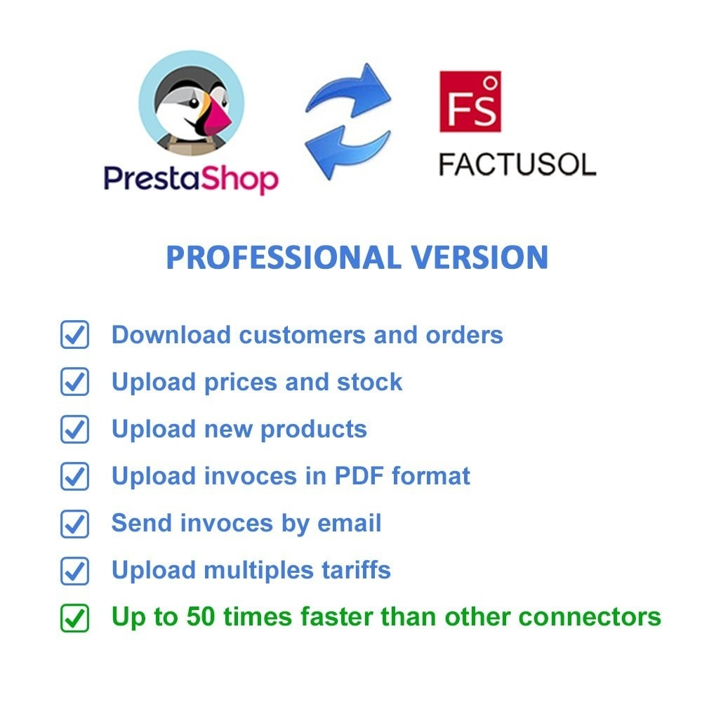 module - Data Integraties (CRM, ERP...) - Professional FactuSOL Connector - 2