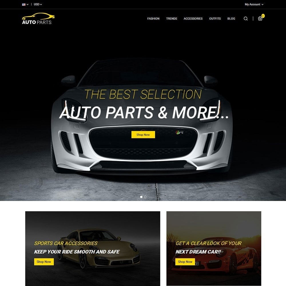 theme - Carros & Motos - Auto Parts Car Store - 2