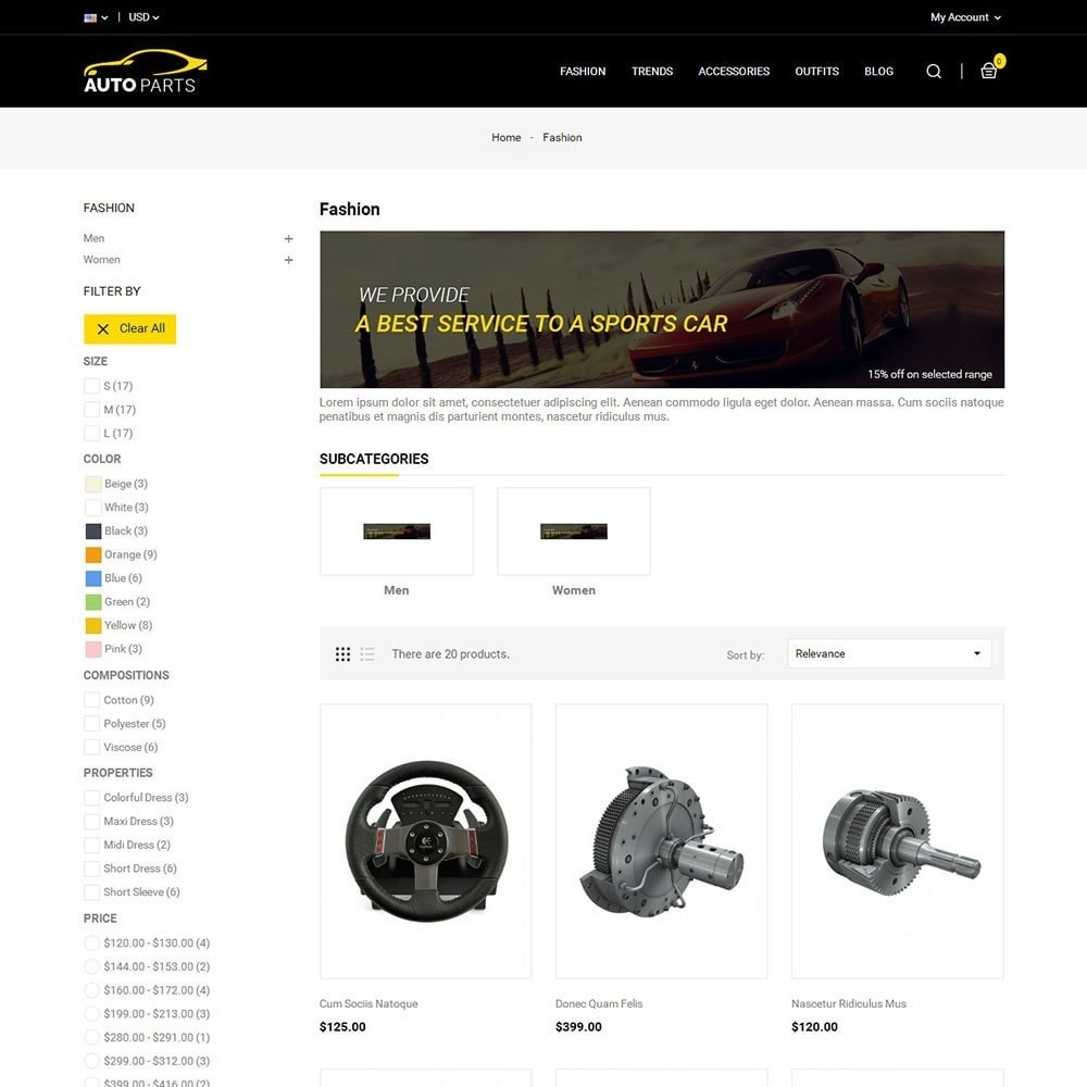 theme - Automotive & Cars - Auto Parts Car Store - 3
