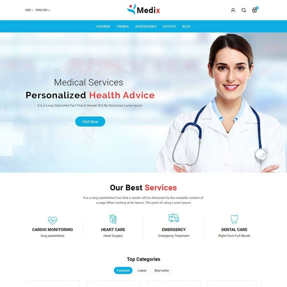 theme - Health & Beauty - Medix Medical Store - 2