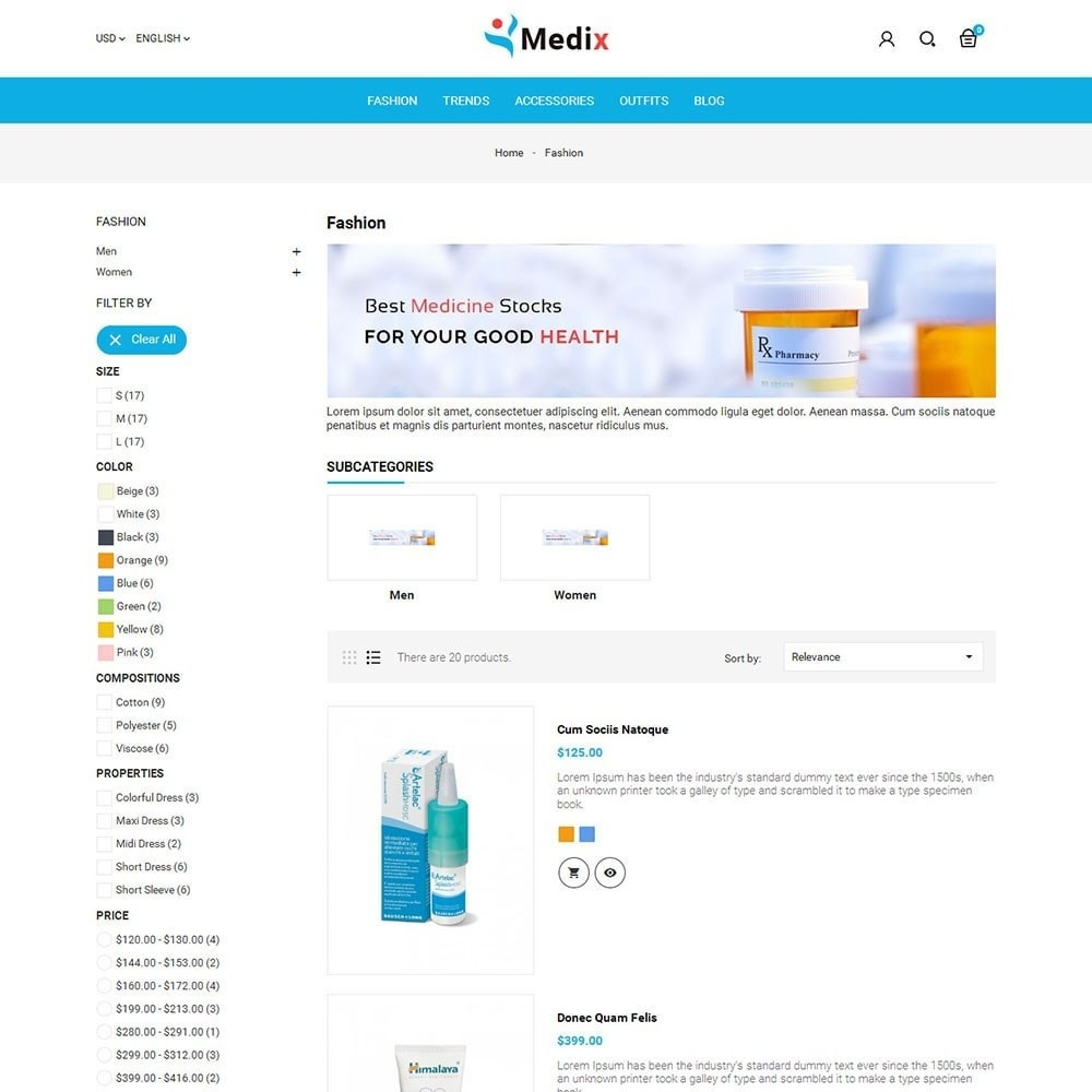 theme - Health & Beauty - Medix Medical Store - 4
