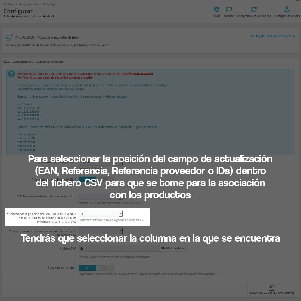 module - Edición Rápida y Masiva - Actualizador masivo de stock (producto y combinaciones) - 8