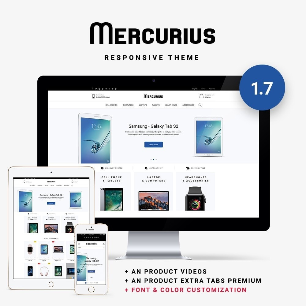 theme - Электроника и компьютеры - Mercurius - High-tech Shop - 1