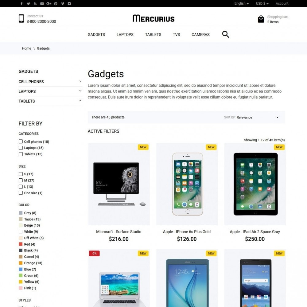 theme - Электроника и компьютеры - Mercurius - High-tech Shop - 5