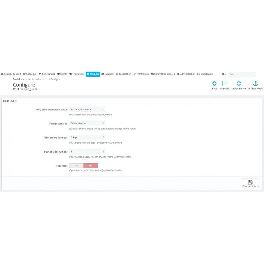 module - Подготовка и отправка - Automatic print shipping labels + Status update - 2