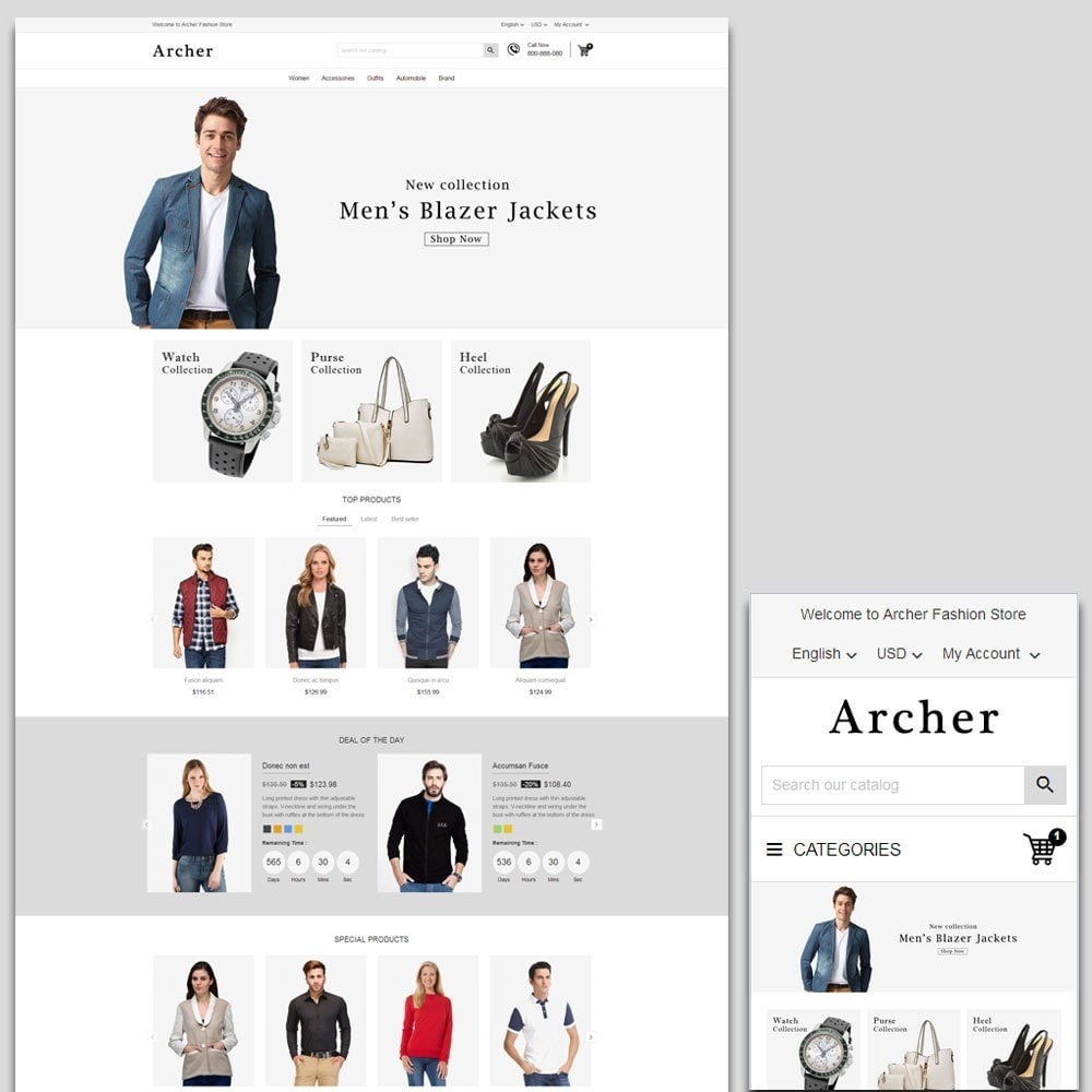 theme - Mode & Schuhe - Archer Fashion Store - 1