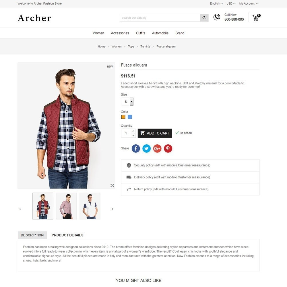 theme - Moda y Calzado - Archer Fashion Store - 7