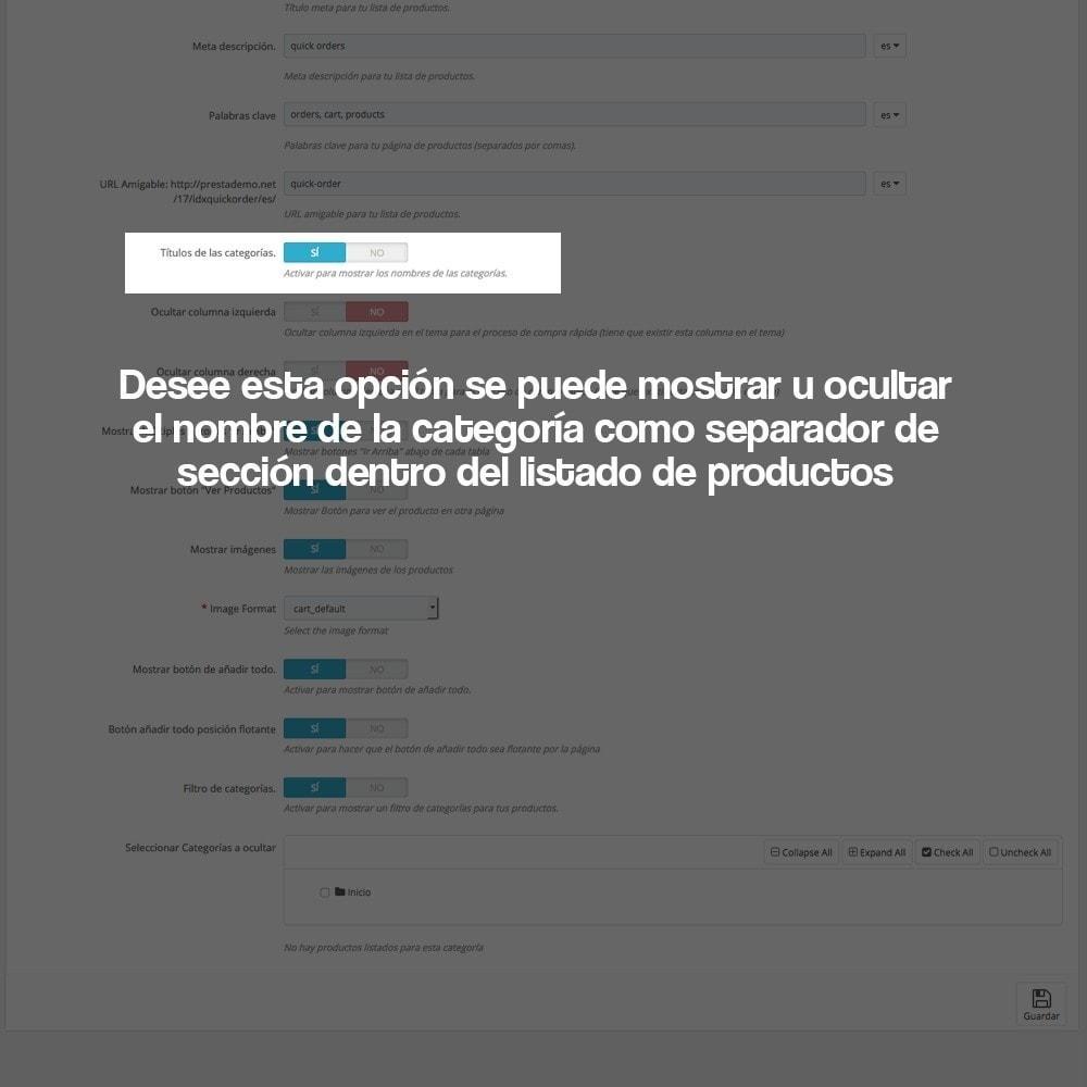 module - B2B - Creador de pedidos rápidos para clientes profesionales - 5