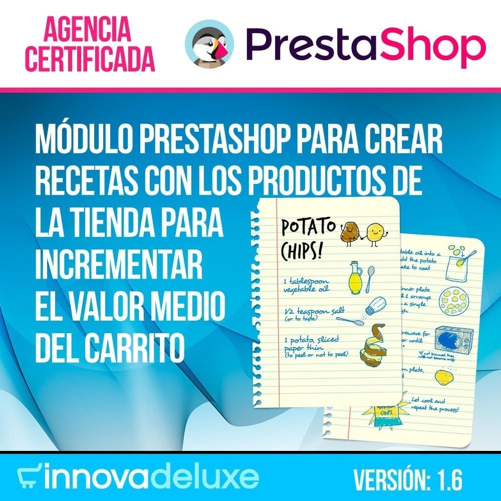 module - Blog, Foro y Noticias - Gestor de recetas con los productos de la tienda - 1