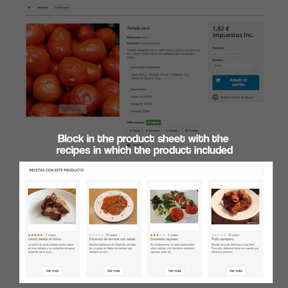 module - Blog, Forum & Nieuws - Recipe manager with the products of the store - 11