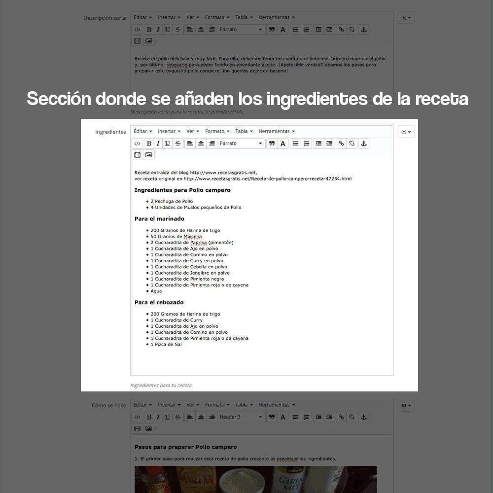module - Blog, Foro y Noticias - Gestor de recetas con los productos de la tienda - 22
