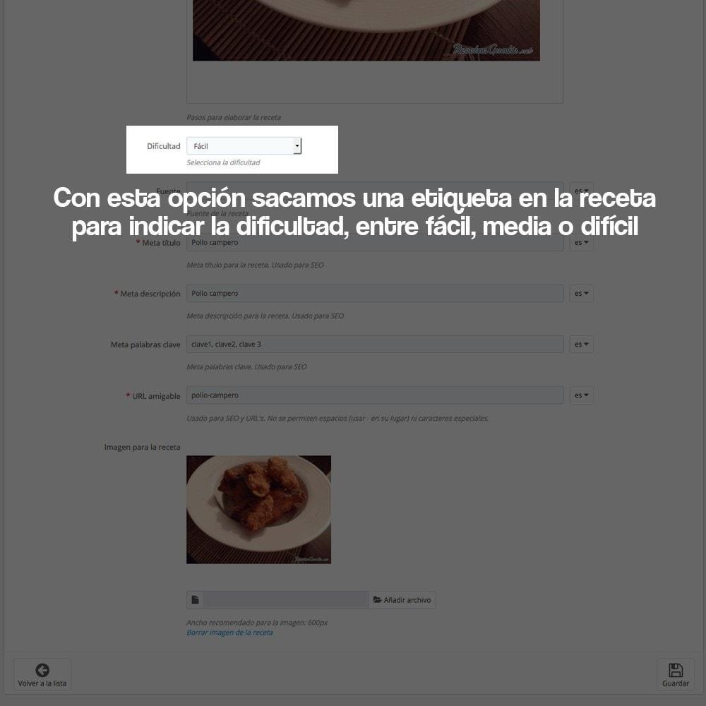 module - Blog, Foro y Noticias - Gestor de recetas con los productos de la tienda - 24
