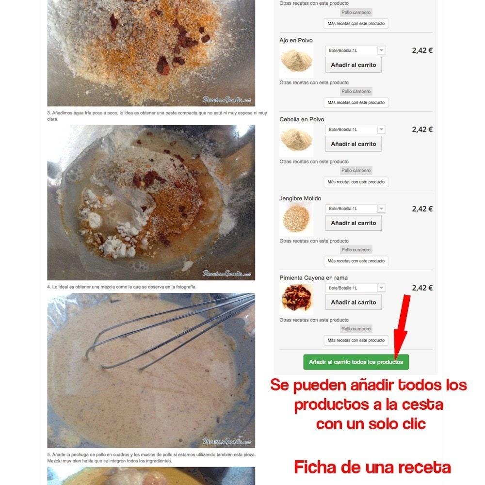 module - Blog, Foro y Noticias - Gestor de recetas con los productos de la tienda - 34