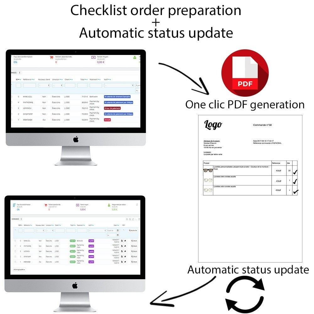 module - Order Management - Checklist order preparation + Automatic status update - 1