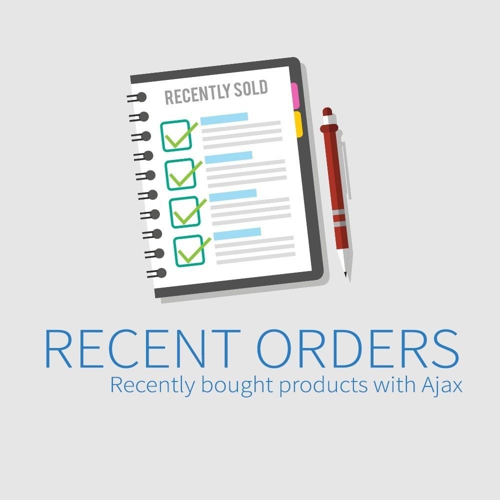 module - Gestión de Pedidos - Pedidos recientes - Productos comprados recientemente - 1