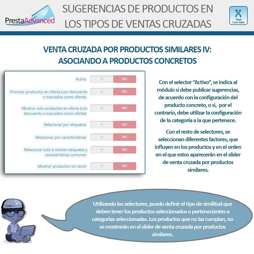 module - Ventas cruzadas y Packs de productos - Total Cross Sales - configuración de ventas cruzadas - 18