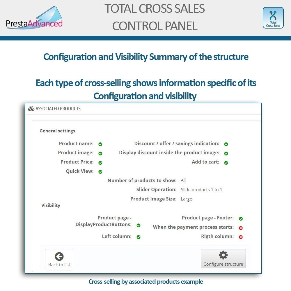 module - Vendas cruzadas & Pacotes de produtos - Total Cross Sales - Cross-selling Set up and control - 29