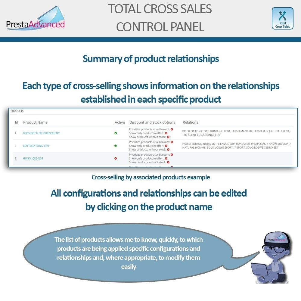 module - Vendas cruzadas & Pacotes de produtos - Total Cross Sales - Cross-selling Set up and control - 34