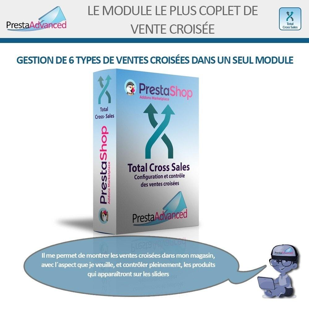 module - Ventes croisées & Packs de produits - Total Cross Sales - Configuration des ventes croisées - 1