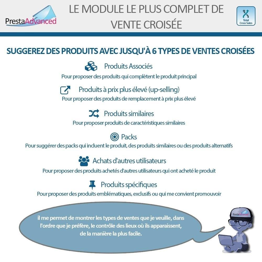 module - Ventes croisées & Packs de produits - Total Cross Sales - Configuration des ventes croisées - 2