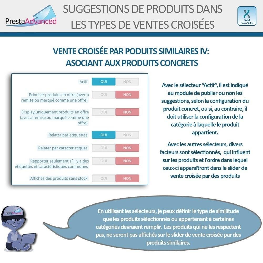 module - Ventes croisées & Packs de produits - Total Cross Sales - Configuration des ventes croisées - 17