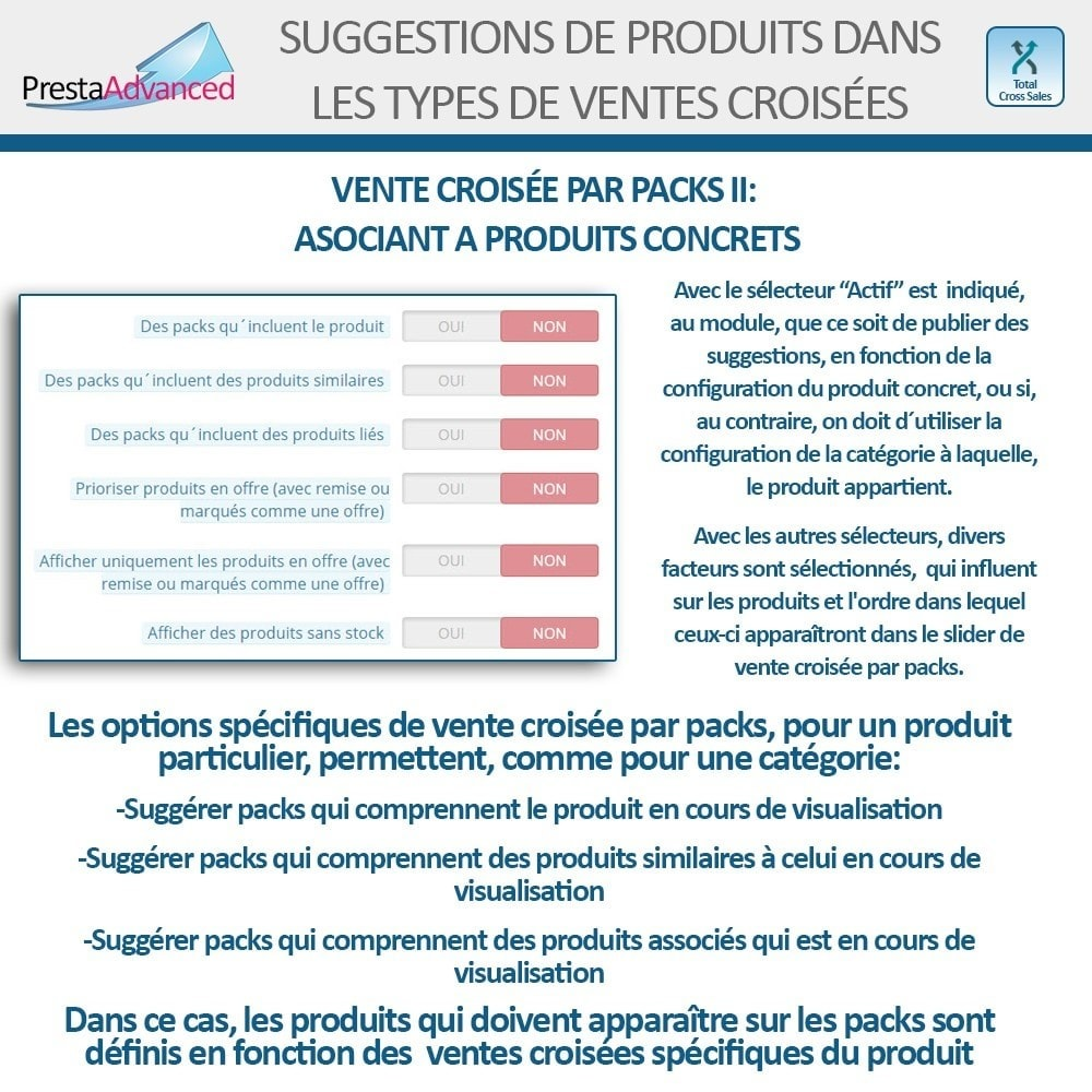 module - Ventes croisées & Packs de produits - Total Cross Sales - Configuration des ventes croisées - 19
