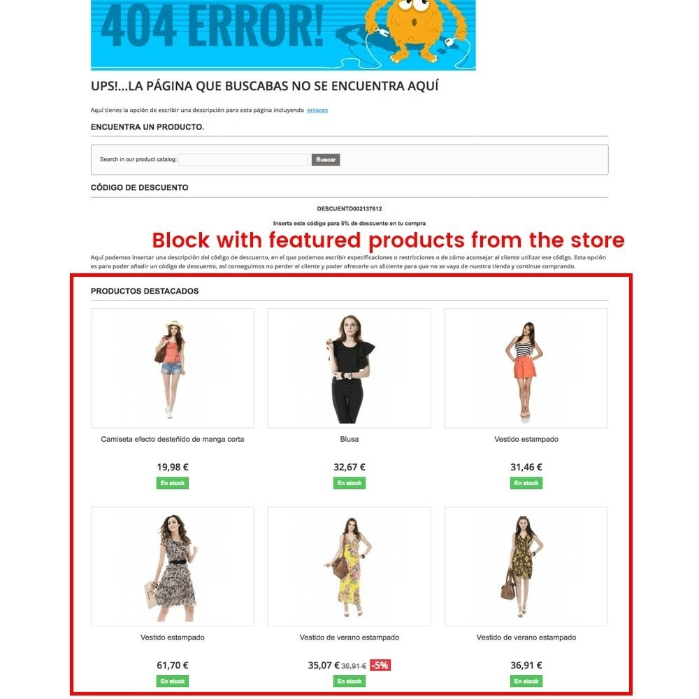 module - URL & Redirects - Customization of the 404 error page - 6