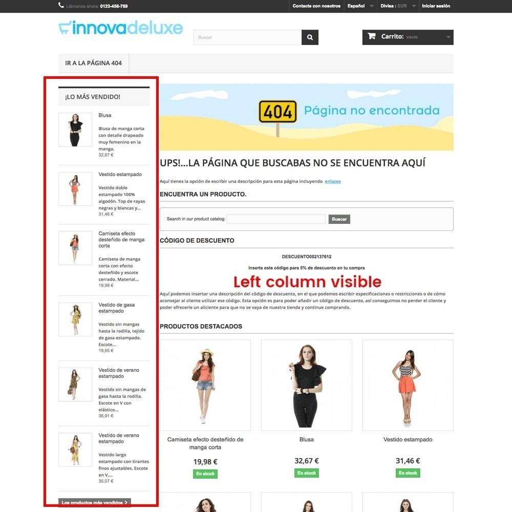 module - Gestão de URL & Redirecionamento - Customization of the 404 error page - 12