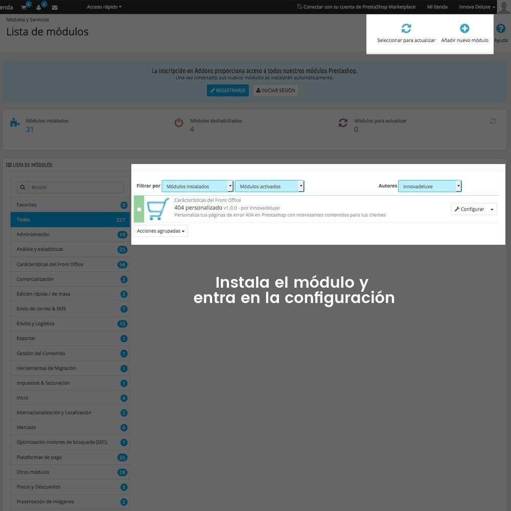 module - URL y Redirecciones - Personalización de la página de error 404 - 2