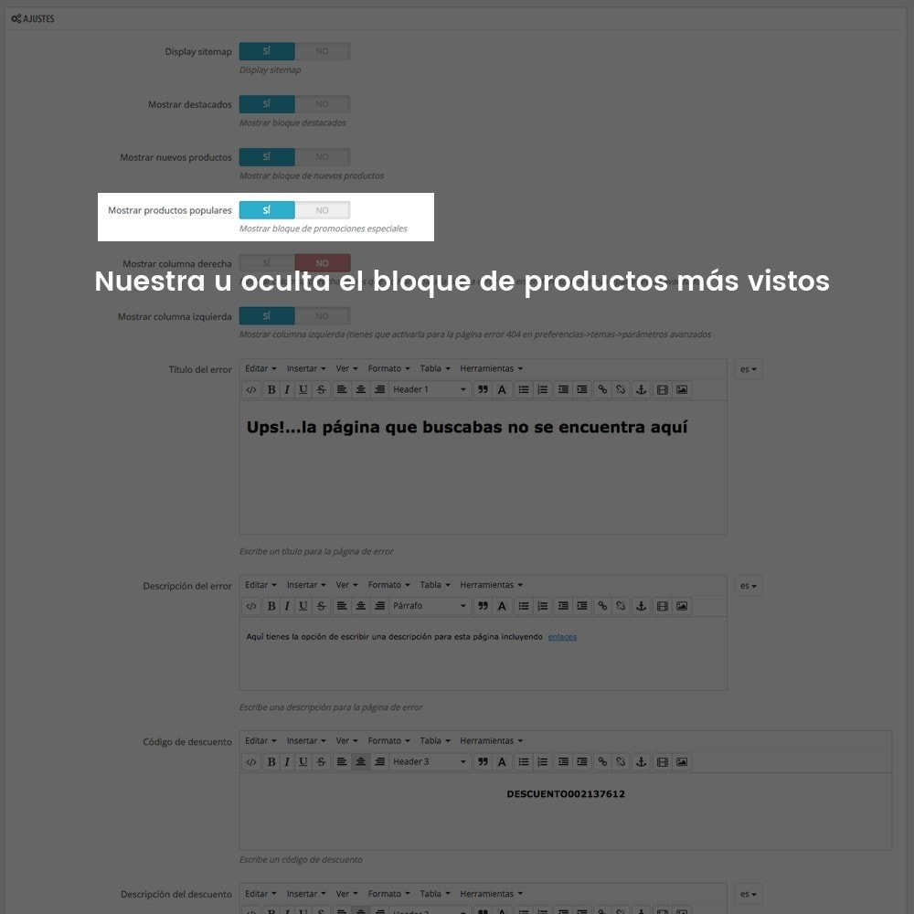 module - URL y Redirecciones - Personalización de la página de error 404 - 9