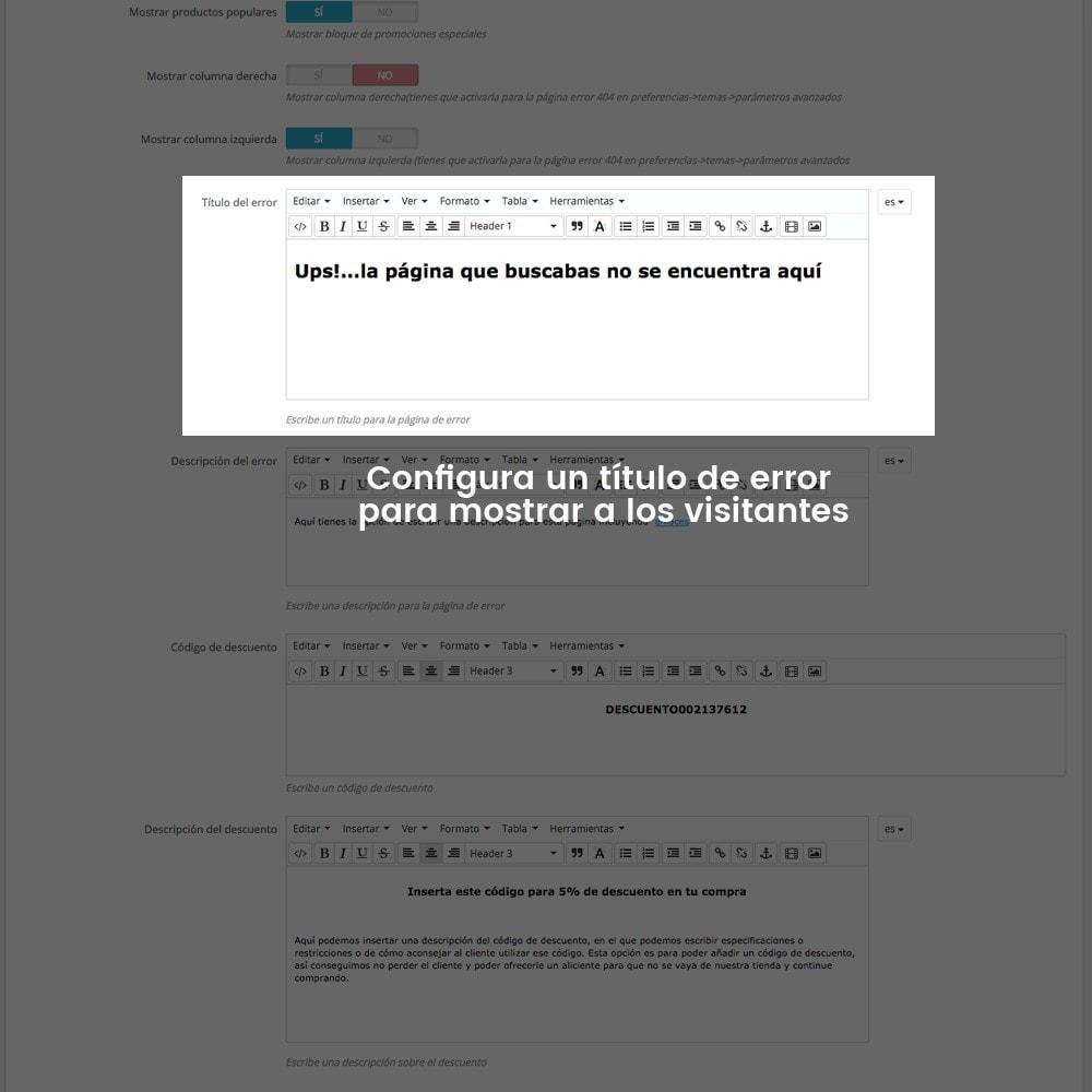 module - URL y Redirecciones - Personalización de la página de error 404 - 16