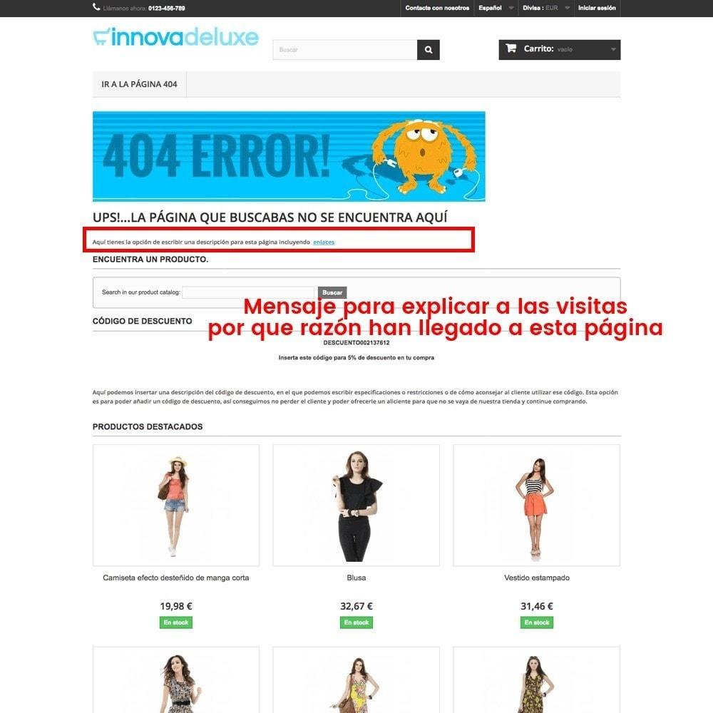 module - URL y Redirecciones - Personalización de la página de error 404 - 19