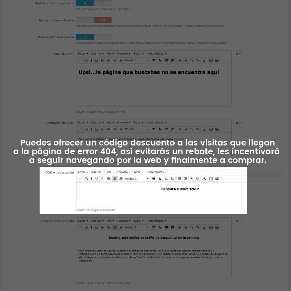 module - URL y Redirecciones - Personalización de la página de error 404 - 20