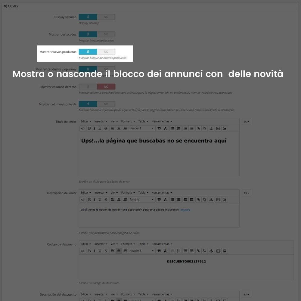 module - URL & Redirect - Personalizzare la pagina di errore 404 - 7