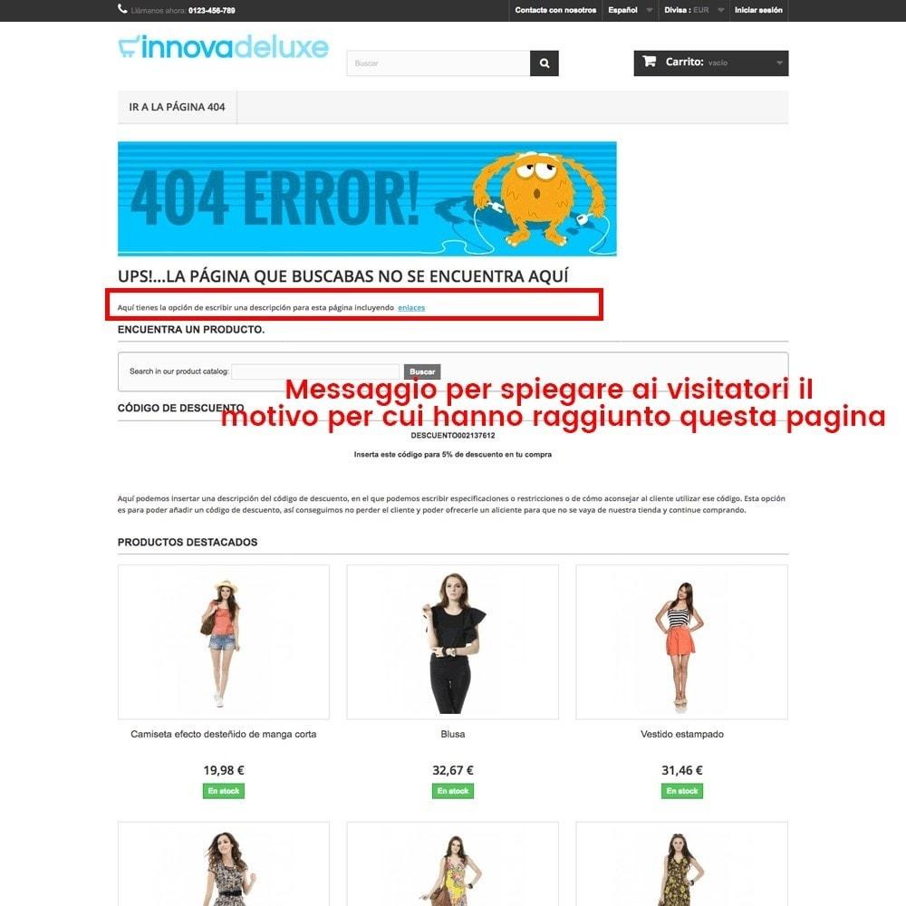 module - URL & Redirect - Personalizzare la pagina di errore 404 - 19