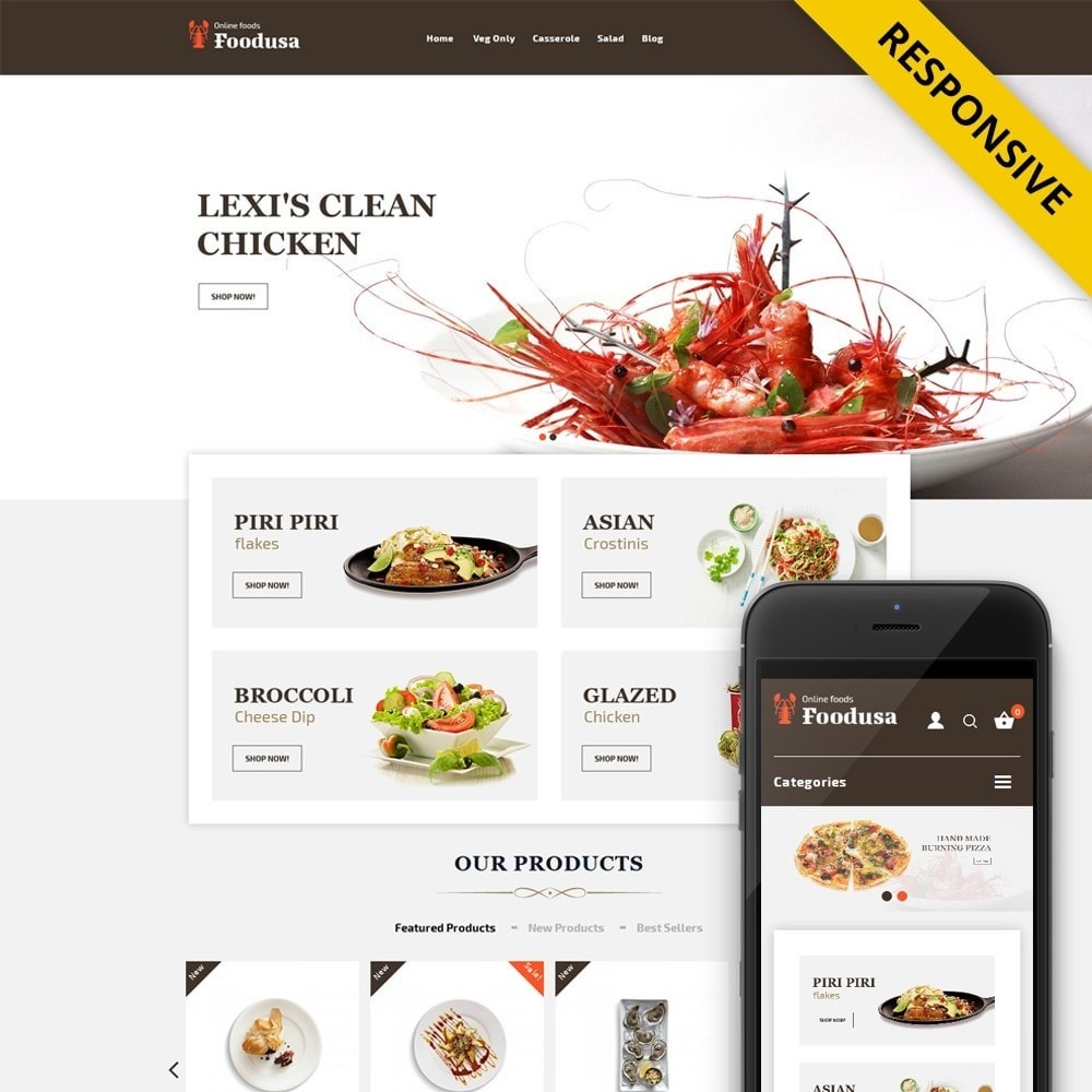 theme - Alimentation & Restauration - Foodusa Store - 1