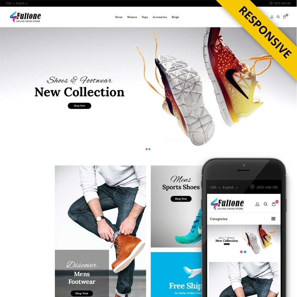 theme - Mode & Chaussures - Fultone - Footwear Store - 1