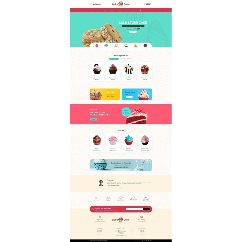theme - Alimentos & Restaurantes - Cake Shop - 2