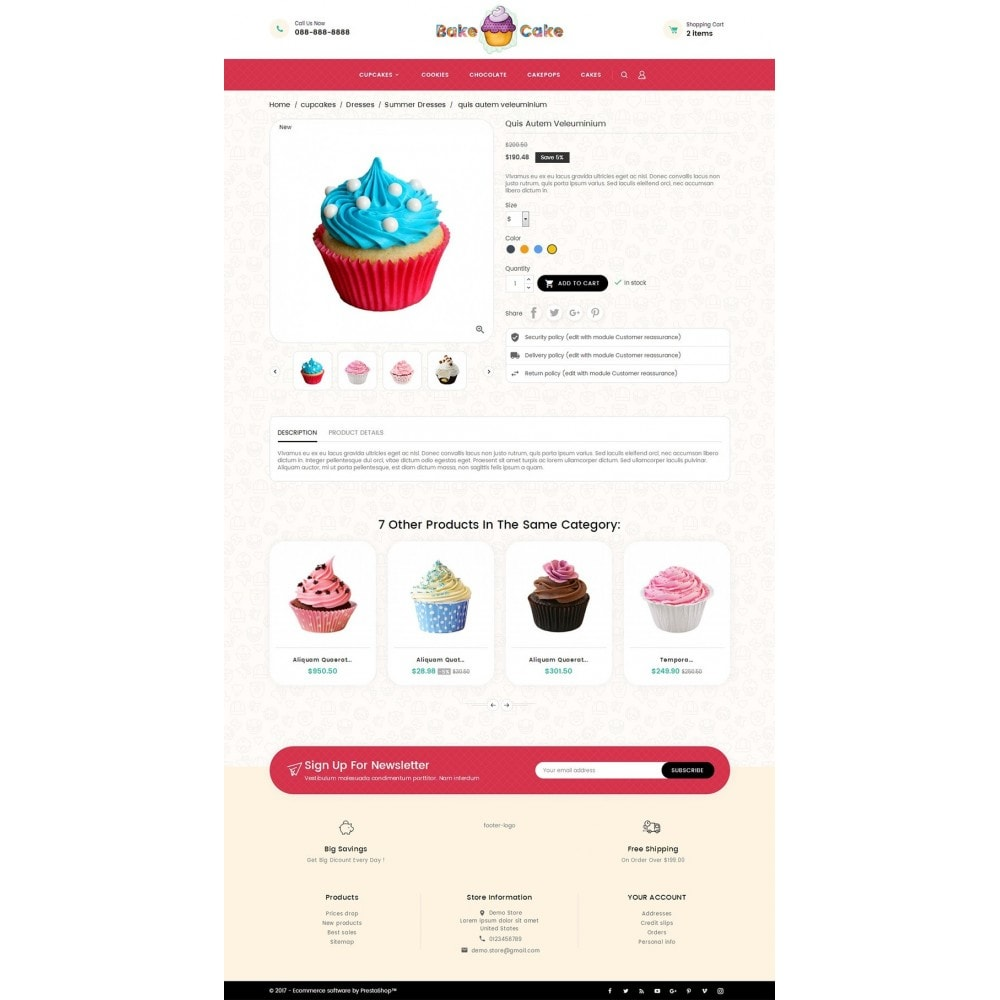 theme - Alimentos & Restaurantes - Cake Shop - 5