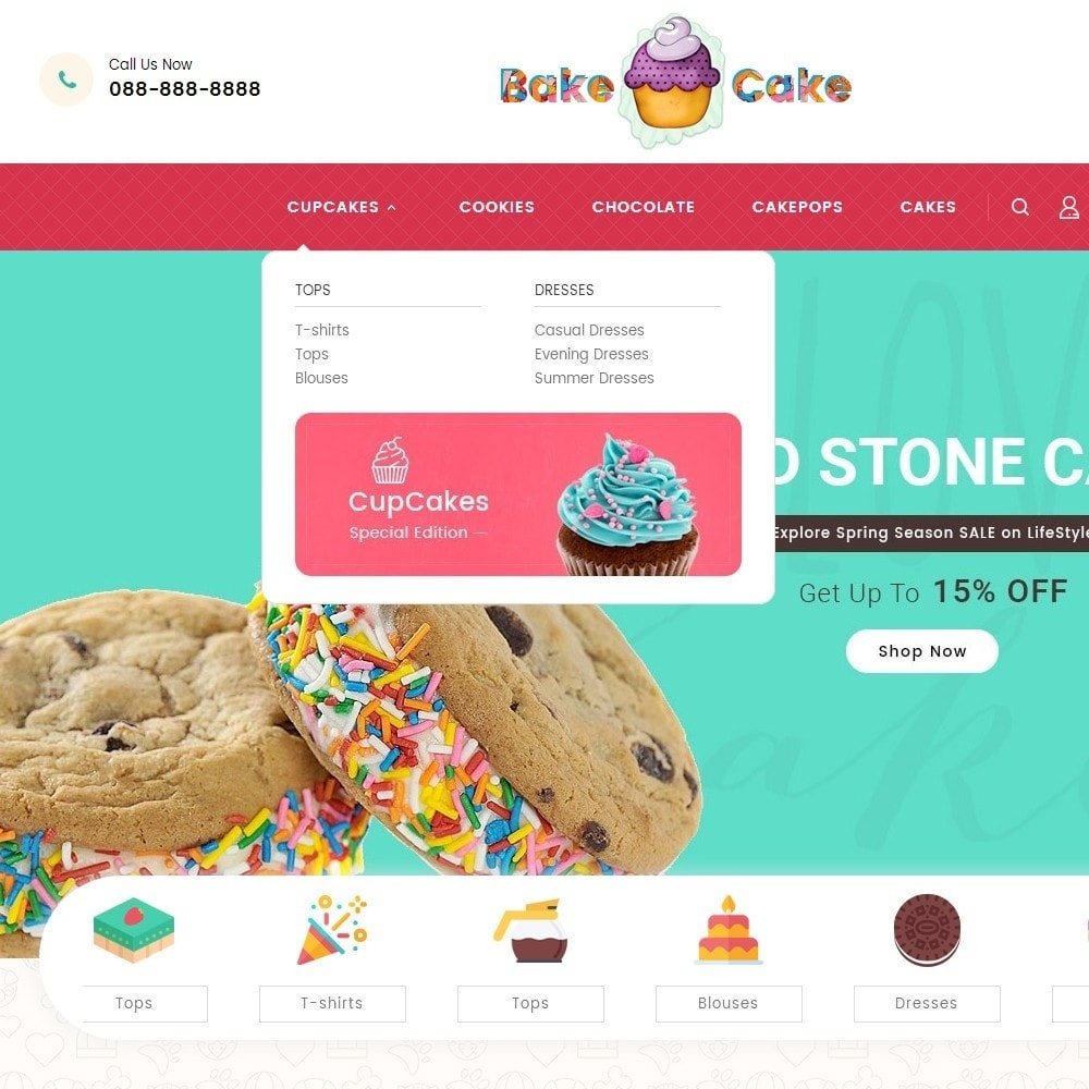 theme - Alimentos & Restaurantes - Cake Shop - 9