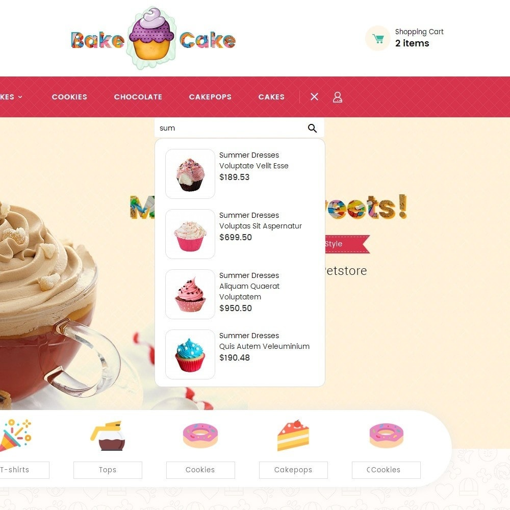 theme - Alimentos & Restaurantes - Cake Shop - 10