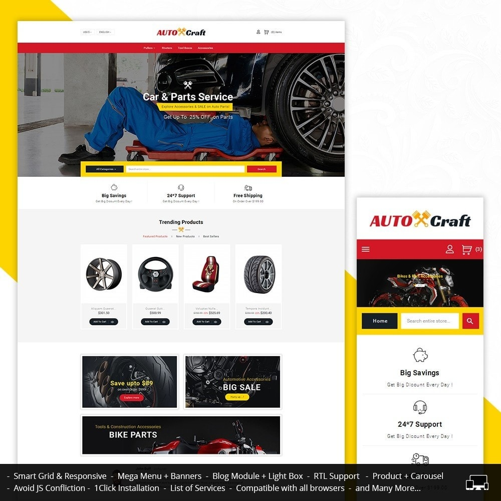 theme - Auto & Moto - Auto Crafts - 1